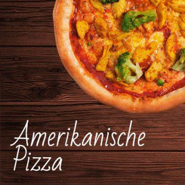 Amerikanische Pizza