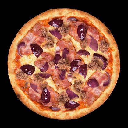 pizza barbecue bacon
