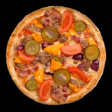 pizza cheeseburger
