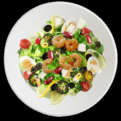 salat mit shrimps